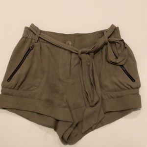 Mason olive green shorts size 2